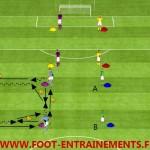 Exercice football passe