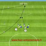 Entrainements foot passe courtes et longue