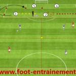 Séance entrainement foot