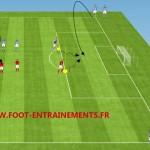 Foot entrainement duel tete