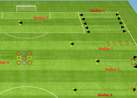 pliometrie football parcours training